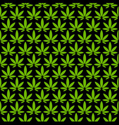 marijuana pot weed leaf vector image