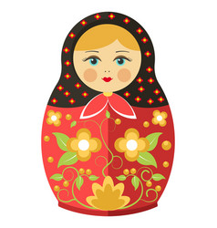 Matryoshka doll or russian nesting doll floral vector