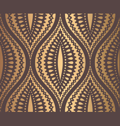 Ogee pattern golden design vector