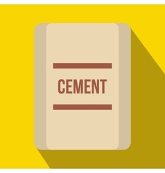 One bag of cement icon flat style vector image