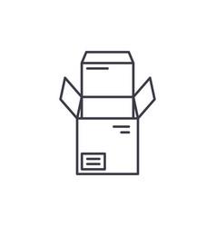 open box line icon concept open box linear vector image