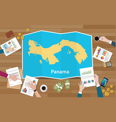 Panama economy country growth nation team discuss vector