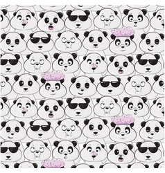 Panda species pattern diversity of black vector