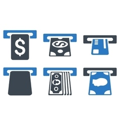 Payment Terminal Flat Icons vector
