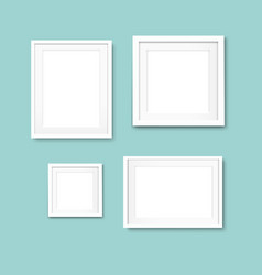picture frame set isolated mint background vector image