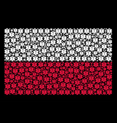 poland flag collage of life star icons vector image