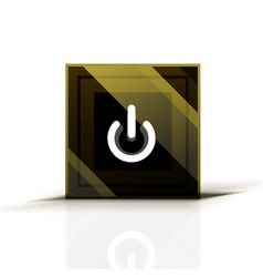 power button icon start symbol web design ui or vector image