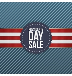 Presidents Day Sale realistic blue USA Emblem vector image