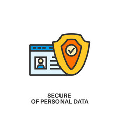 Protection of personal data icon vector