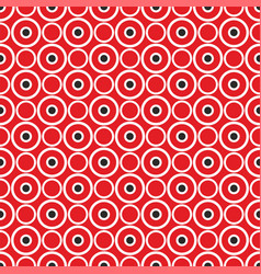 Red background retro seamless pattern with dots vector