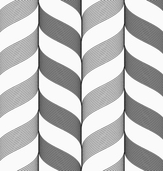 Ribbons dark and light forming vertical chevron vector image