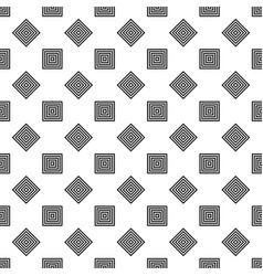 Seamless monochrome diagonal square pattern vector