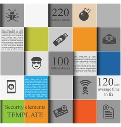 Security elements template vector image