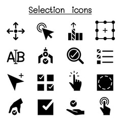 selection icon set graphic design vector image