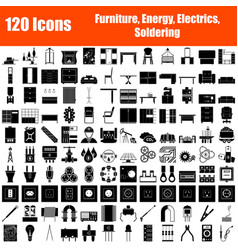 Set 120 icons vector