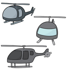 Set of helicopter vector