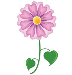 single purple flower vector image