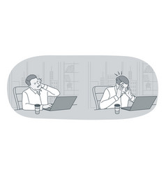 stress overwork overload concept vector image