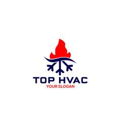 Top hvac logo design vector