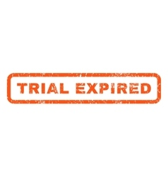 Trial Expired Rubber Stamp vector