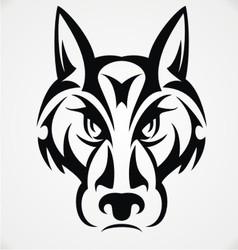 Tribal Wolf Face vector