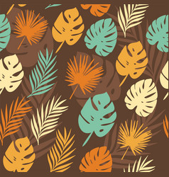 tropical leaves vector image