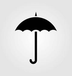 umbrella icon isolated on white background vector image