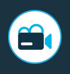 Video camera icon colored symbol premium quality vector