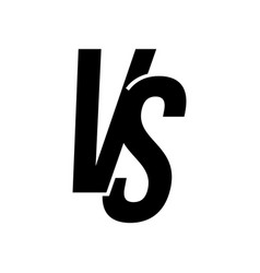 vs versus letters icon isolated vector image