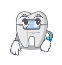Waiting toys braces in mascot box vector