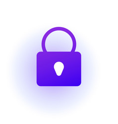 web icon padlock sign lock purple gradient vector image