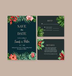 Wedding invitation watercolor design vector