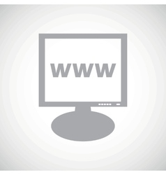 WWW grey monitor icon vector