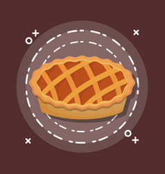 yummy traditional applepie vector image
