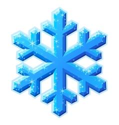 blue shining snowflake vector image vector image