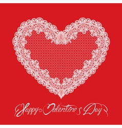 hearts lace 1 380 vector image vector image
