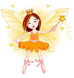 Little orange fairy vector image vector image