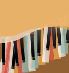 piano keys retro vector image vector image