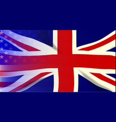 union jack stars and stripes vector image