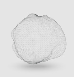 Abstract mesh distorted sphere vector