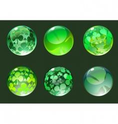 decoration balls vector image vector image