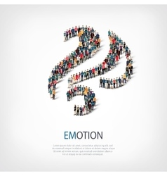 emotion people sign 3d vector image