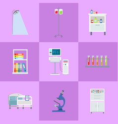 medical equipment icons set vector image vector image