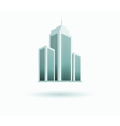Skyscrapers House Building Icon vector image
