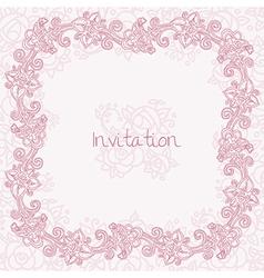 Ornate rose card vector image