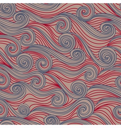 Seamless abstract pattern waves vector image vector image