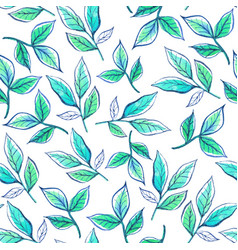 watercolor pattern leaves vector image