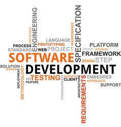 word cloud software development vector image