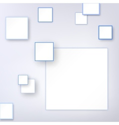 Background with blue square vector image