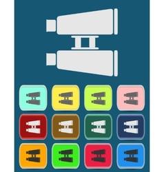 Binoculars flat icon Single icon vector image vector image